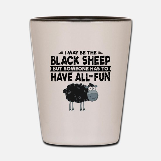 Black Sheep Shot Glass