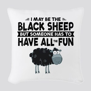 Black Sheep Woven Throw Pillow