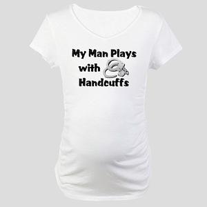 Police Handcuffs Maternity T-Shirt