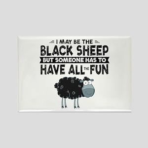 Black Sheep Rectangle Magnet