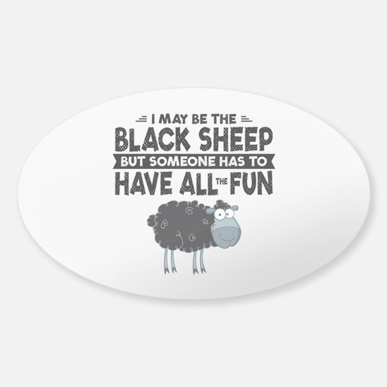 Black Sheep Sticker (Oval)
