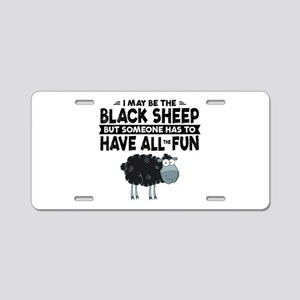 Black Sheep Aluminum License Plate