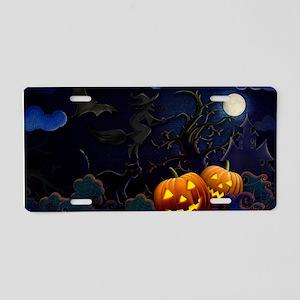 Halloween Spooks Aluminum License Plate