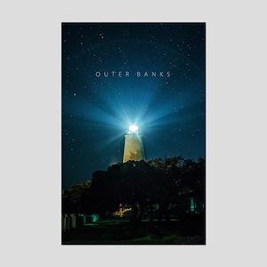 Ocracoke Lighthouse. Mini Poster Print