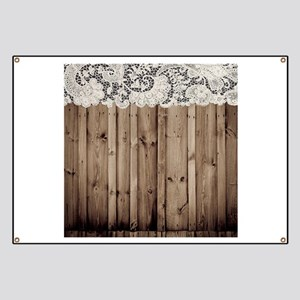 barnwood white lace country Banner