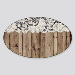 barnwood white lace country Sticker