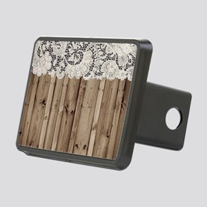 barnwood white lace countr Rectangular Hitch Cover