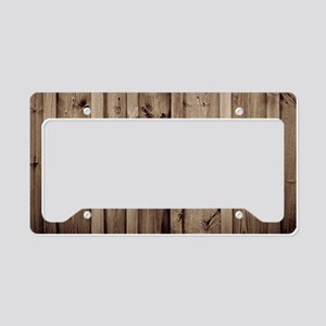 barnwood white lace country License Plate Holder