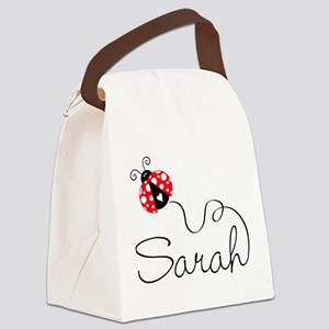 Ladybug Sarah Canvas Lunch Bag