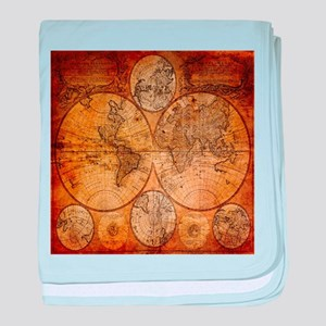 Old world map baby blankets cafepress voyage compass vintage world map baby blanket gumiabroncs Choice Image