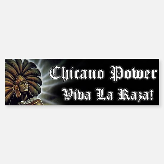 "SoyChicano ""Chicano Power"" Bumper Bumper Bumper Sticker"