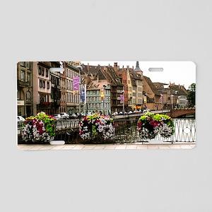 Strasbourg, France Aluminum License Plate