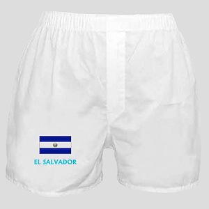 El Salvador Flag Classic Blue Design Boxer Shorts