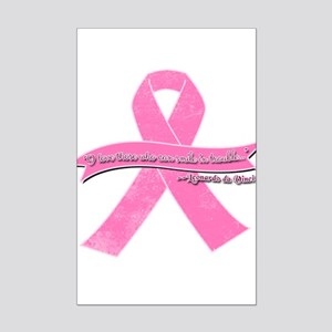 Pink Ribbon with Smile Quote Mini Poster Print