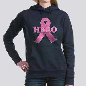 HERO with Pink Ribbon Women's Hooded Sweatshirt