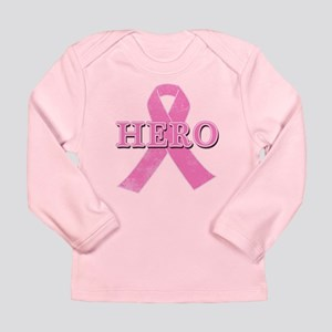 HERO with Pink Ribbon Long Sleeve Infant T-Shirt
