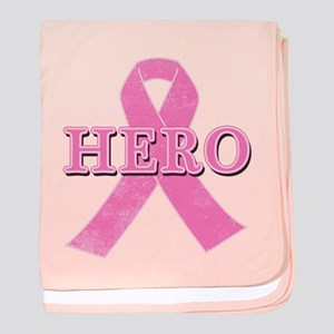 HERO with Pink Ribbon baby blanket