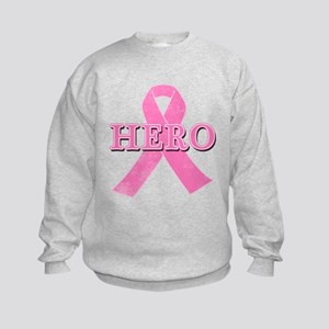HERO with Pink Ribbon Kids Sweatshirt