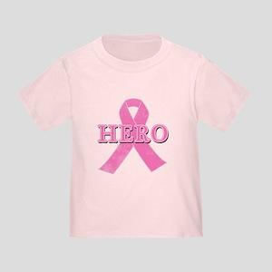 HERO with Pink Ribbon Toddler T-Shirt