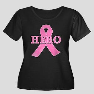 HERO wit Women's Plus Size Scoop Neck Dark T-Shirt
