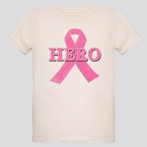 HERO with Pink Ribbon Organic Kids T-Shirt