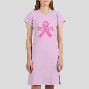 HERO with Pink Ribbon Women's Nightshirt