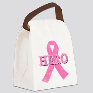 HERO with Pink Ribbon Canvas Lunch Bag
