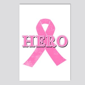 HERO with Pink Ribbon Postcards (Package of 8)
