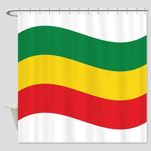 Green, Gold and Red Flag Shower Curtain