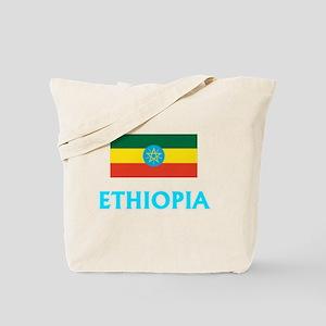 Ethiopia Flag Classic Blue Design Tote Bag