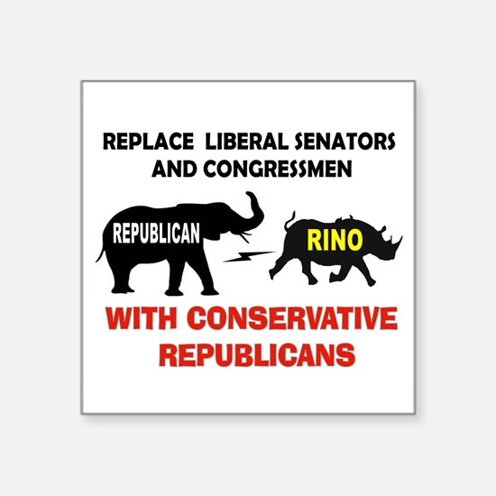 RINOS OUT Sticker