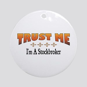 Trust Stockbroker Ornament (Round)