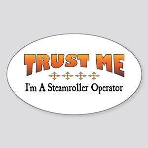 Trust Steamroller Operator Oval Sticker