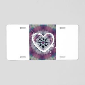 Heart Aluminum License Plate