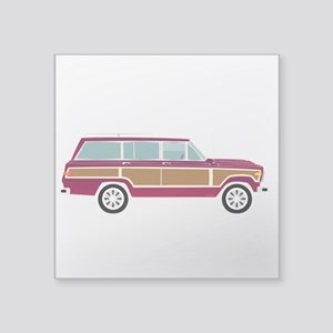 "Weekend Wagon Square Sticker 3"" x 3"""