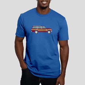 Weekend Wagon Men's Fitted T-Shirt (dark)