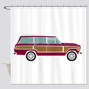 Weekend Wagon Shower Curtain