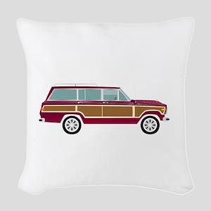 Weekend Wagon Woven Throw Pillow