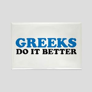 Greeks Do It Better Rectangle Magnet