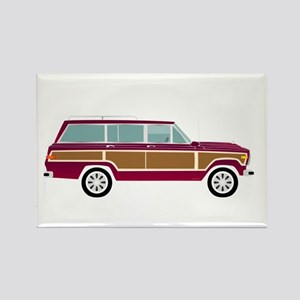 Weekend Wagon Rectangle Magnet