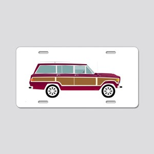 Weekend Wagon Aluminum License Plate