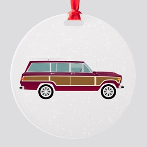 Weekend Wagon Round Ornament