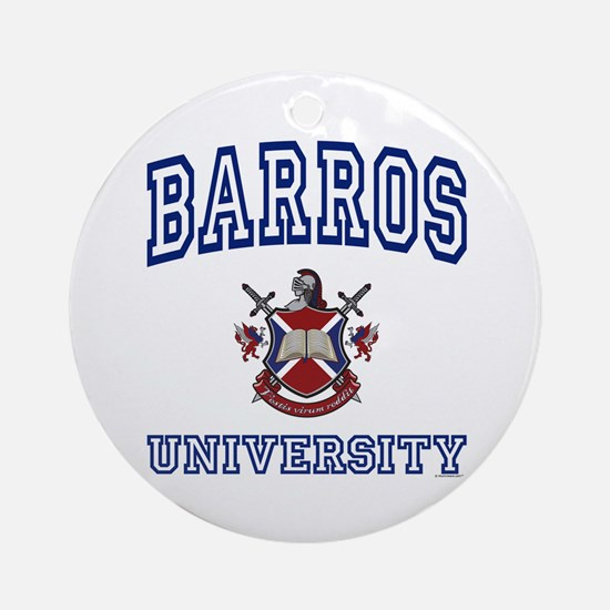 BARROS University Ornament (Round)