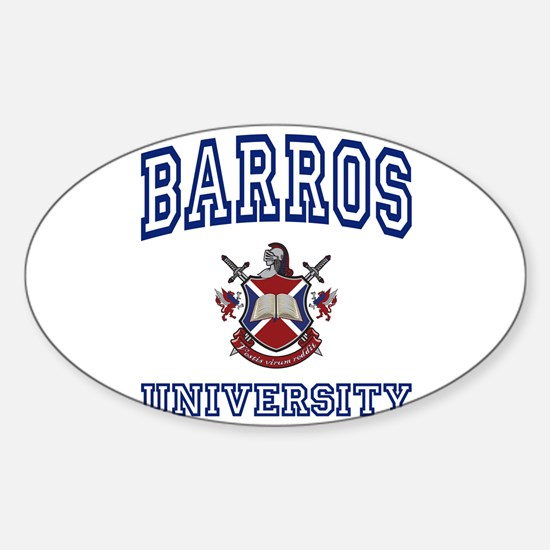 BARROS University Oval Decal