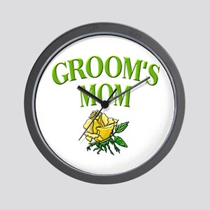Groom's Mom (rose) Wall Clock