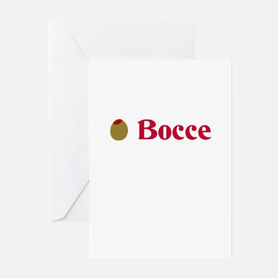 Olive Bocce (I Love Bocce) Greeting Cards (Package
