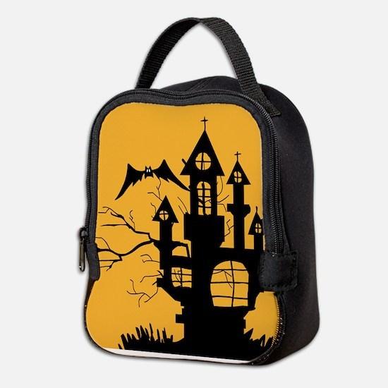 Haunted House Neoprene Lunch Bag
