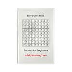 Sudoku for Beginners Rectangle Magnet (10 pack)