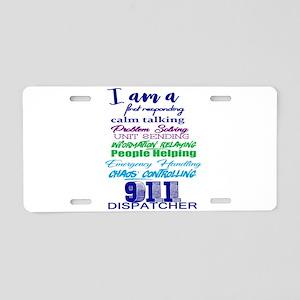 911 DISPATCHER Aluminum License Plate