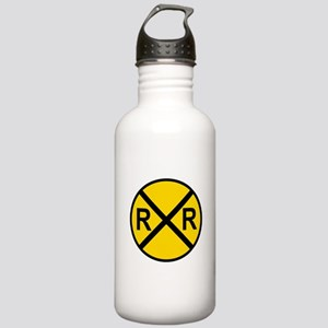Railroad Crossing Sign Stainless Water Bottle 1.0L